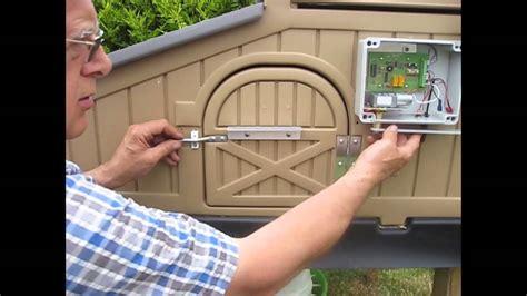 Automatic Door Lock Opener - automatic door opener standard snap lock chicken coop