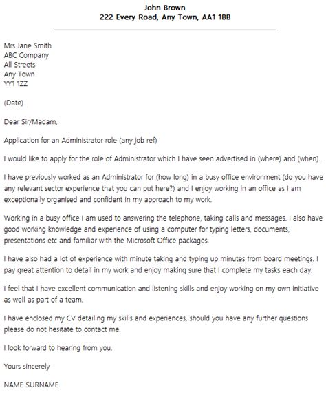 cover letter layout cover letter layout exle icover org uk