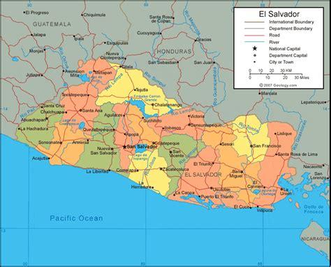 world map el salvador world map of el salvador