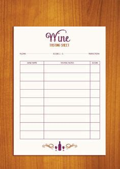 wine score cards template free wine tasting sheet printable cheers cocktail hour