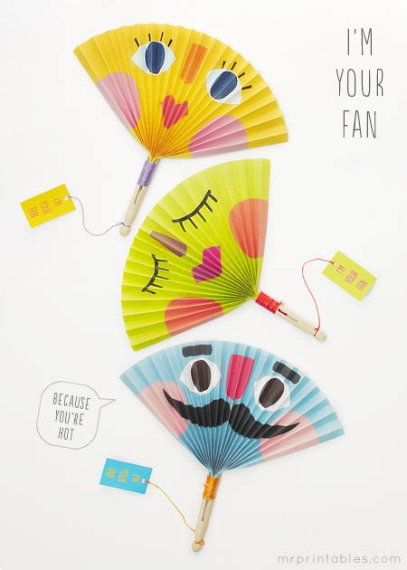 printable paper fans printable summer crafts kids image search results