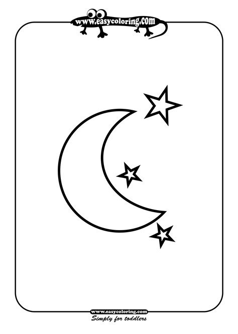 preschool coloring pages moon 4 best images of half moon and stars printable crescent