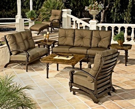 Lowes Clearance Patio Furniture Furniture Shop Garden Treasures Tucker Bend Brown Steel Stackable Patio Lowes Patio Furniture