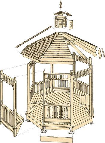 gazebo plans  woodworking projects plans