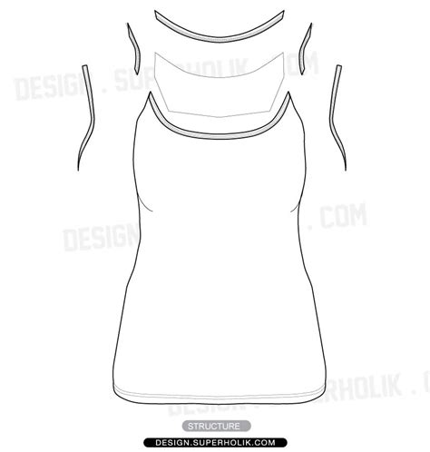 tank top design template camisole tank top vector template hellovector