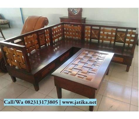 Kursi Anyaman Bambu kursi sudut model anyaman kayu jati jatika furniture jatika furniture