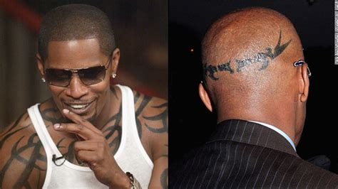 jamie foxx head tattoos photos tribal on foxx