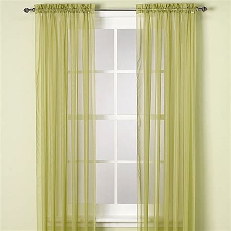 63 inch curtains bed bath beyond buy elegance sheer 63 inch window curtain panel in mimosa