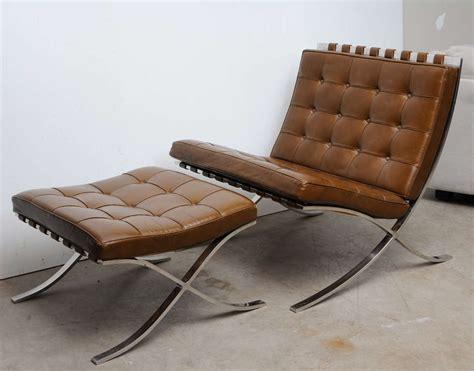 Barcelona Chair Ottoman Vintage Mies Der Rohe Quot Barcelona Quot Chair And Ottoman At 1stdibs