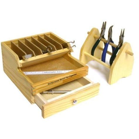 wood tool bench jewelers plier rack bench wood tool box w drawer jewelry