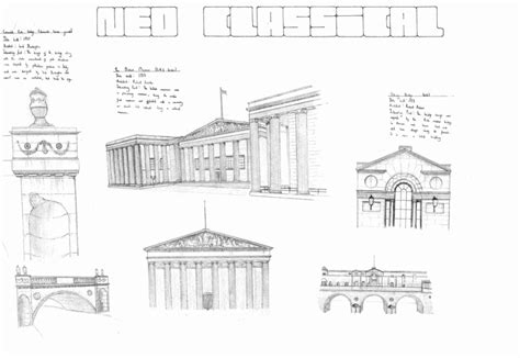 the gallery for gt neoclassical architecture sketch architectural period sketches nathaniel banks