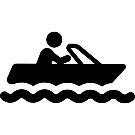 pontoon boat icon man on a boat free transport icons