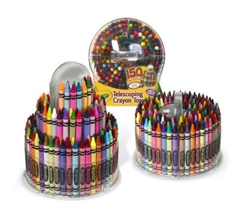 crayola  count telescoping crayon tower storage case