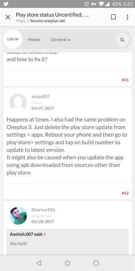 Play Store Uncertified Oneplus 5 Shows Uncertified On Play Store Oneplus