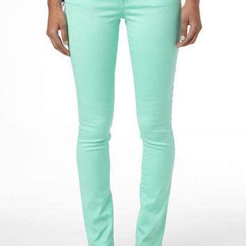 Mint Grey Jegging mint leaf jegging from delias gifts