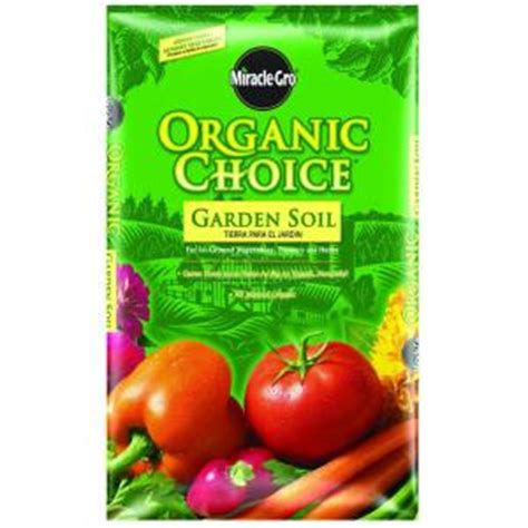 miracle gro organic choice 1 5 cu ft garden soil