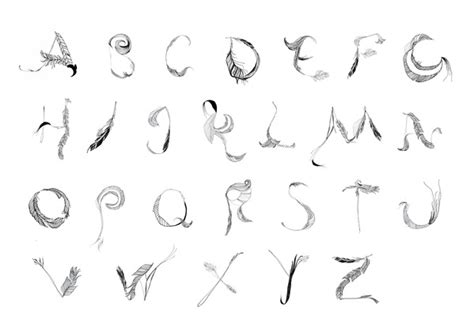 Feathery Fonts Terese Skovhus