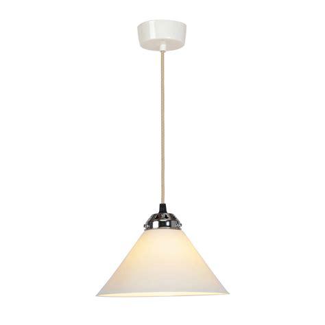 cobb small plain pendant light white by original btc