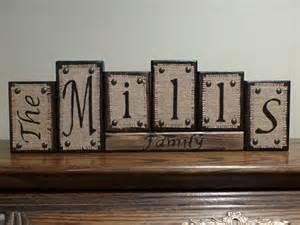 decorative letter blocks for home name blocks personalized wood family name letter blocks