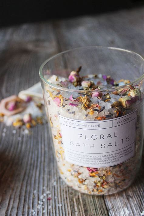 Handmade Bath Salts - diy floral bath salts free printable labels married