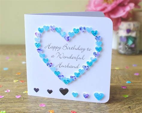 Handmade Birthday Card Ideas For Husband - husband birthday card handmade personalised birthday