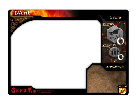 rpg card template skyzm hoe hell turf card template by davywagnarok on