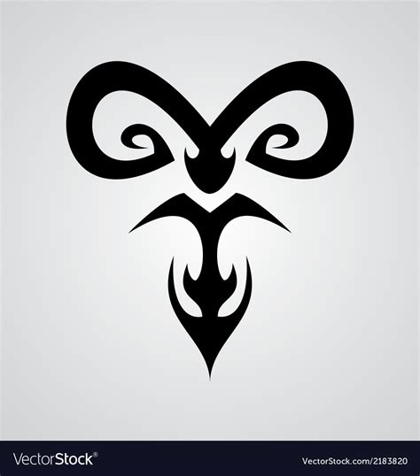 aries sign tribal royalty free vector image vectorstock aries symbol royalty free vector image vectorstock