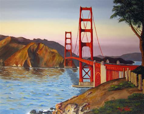 golden gate bridge painting by dottie kinn