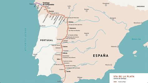 la camino de santiago mapa de la v 237 a de la plata camino de santiago