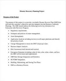 project recovery plan template recovery plan templates 5 exles in word pdf