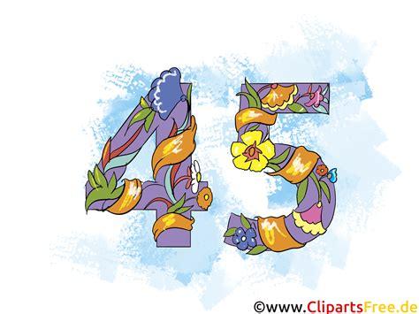 Hochzeit 45 Jahre by Gratulieren Zum Geburtstag 45 Jahre Clipart Grusskarte