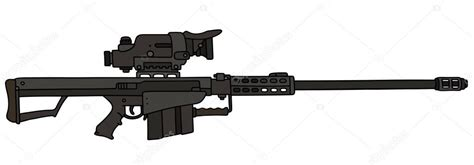 snipe bid black big sniper rifle stock vector 169 2v 119446230