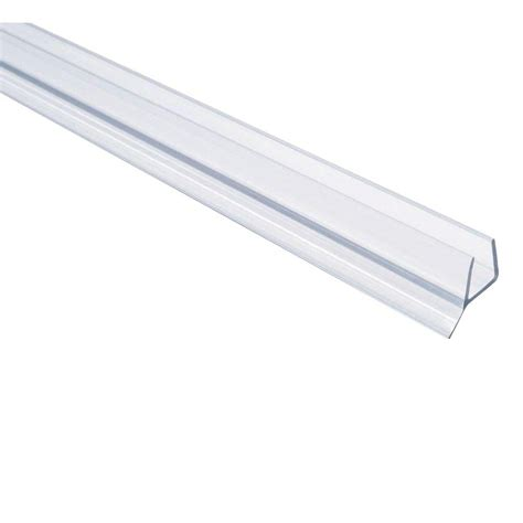 Shower Seals For Glass Doors Showerdoordirect 98 In L Frameless Shower Door Seal For 3 8 Glass 38ddbs98 The Home Depot