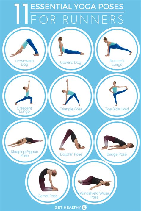 printable yoga poses for runners 11 essential yoga poses for runners