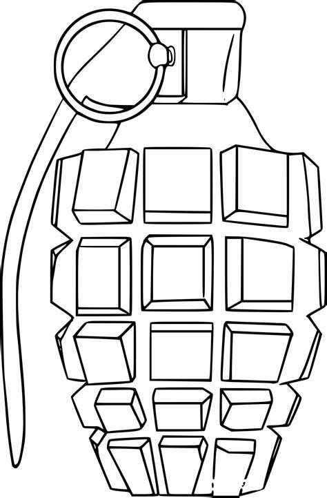 Coloriage Grenade De Guerre 224 Imprimer Sur Coloriages Info