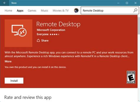 windows remote use the remote desktop windows universal app to connect to