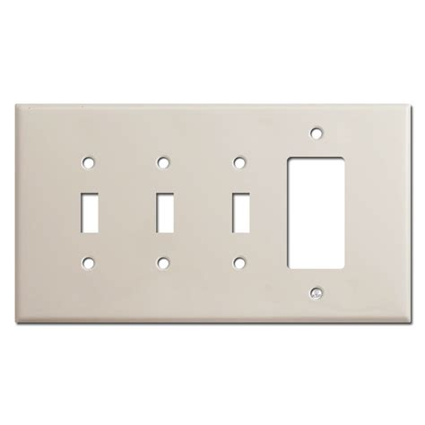 light switch covers 3 toggle 1 rocker jumbo 3 toggle 1 decora switch plate covers light almond