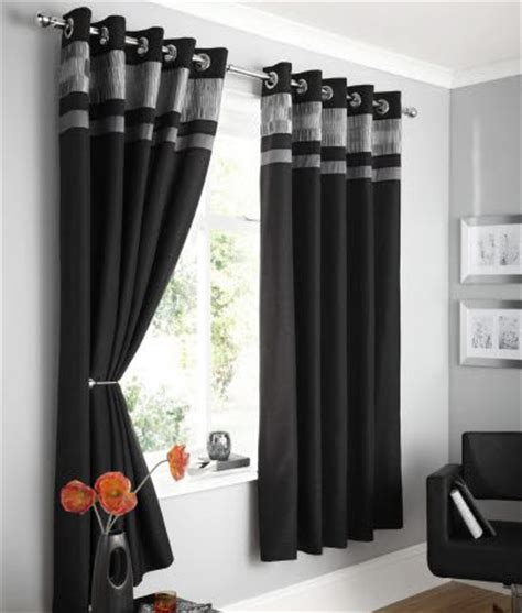 black silver curtains design logan fully lined faux silk eyelet curtains black