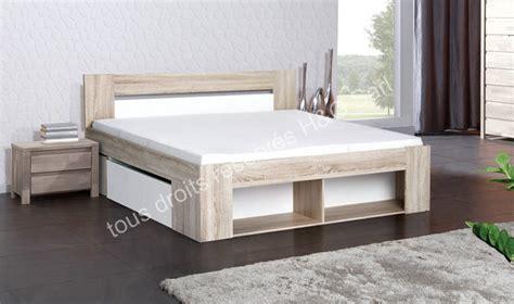 lit adulte avec tiroirs lit adulte design chne et blanc avec rangements tiroirs