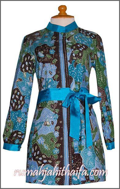 Blus Batik Malika finished seragam batik tulis untuk ibu tanti dkk di