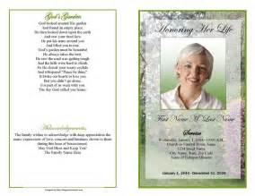 Memorial amp funeral program business card amp letterhead template