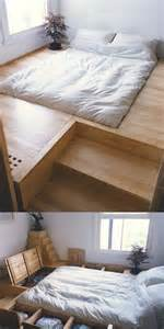 Japanese Style Platform Bed With Storage 10 Smart Floor Storage Ideas For Small Space Solutions