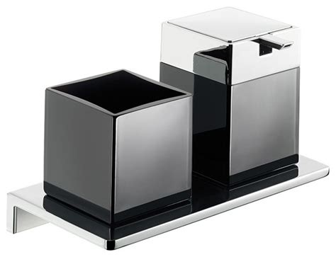 modern bathroom accessories sets asio 1331 204 04 soap dispenser and toothbrush holder