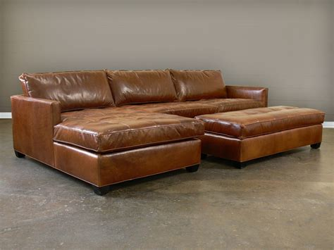 Big leather chaise sectional prefab homes unique leather chaise sectional