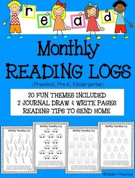 themed monthly reading logs modern preschool reading logs parent letters and reading at home on pinterest