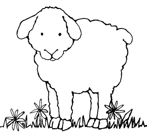 Black And White Sheep Clipart - Clipart Suggest Lamb Black And White Clipart