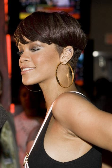 rihanna hairstyles cut rihanna bowl cut hairy mess pinterest rihanna