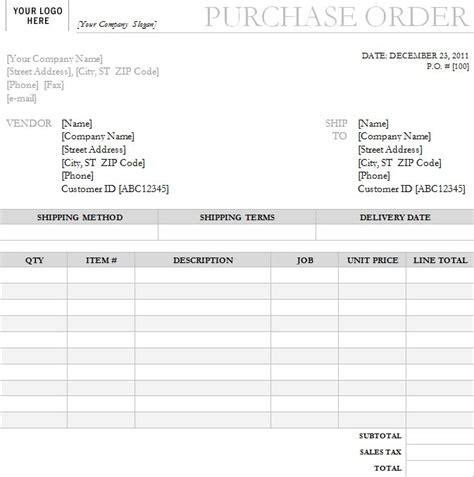 Interior Design Purchase Order Template Purchase Order With Garamond Gray Design