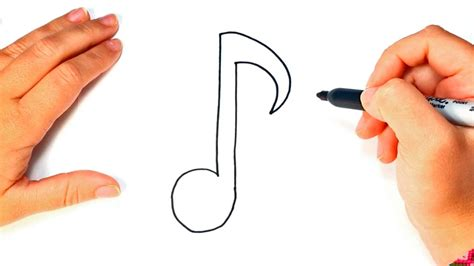 imagenes de notas musicales kawaii c 243 mo dibujar una nota musical paso a paso dibujo f 225 cil