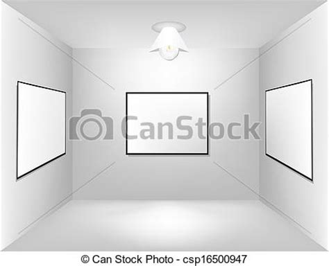 what is empty room in line large empty room with a advertising royalty free vector eps csp16500947